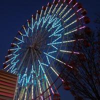 YCATから名古屋までバスに乗りました。刈谷ハイウエイオアシスでのライトアップがきれいでした。