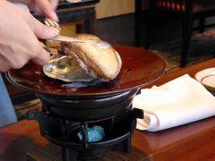 お盆休みのエクシブ初島3連泊 日本料理 初海の推奨料理の夕食 ナイトプール