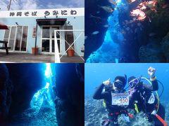 冬でも暖かい沖縄へ(20)美ら海・瀬底島ラビリンスで記念ダイビング!&自家製麺もっちもちの沖縄そば