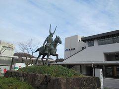 冬の近江・美濃(3)近江牛ボロネーゼパスタ。彦根駅前に建つ井伊直政公像。滋賀県護国神社