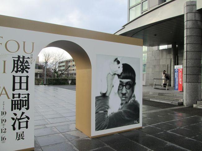 『藤田嗣治展』の前売り券を購入したのは、10月上旬。何だかんだで月日は流れ、気が付けばすでに12月中旬に。肝心の藤田嗣治展は12月16日が最終日。慌てて、行ってきました。