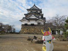 冬の近江・美濃(5)国宝彦根城【中】階段の急な天守内部。西の丸三重櫓