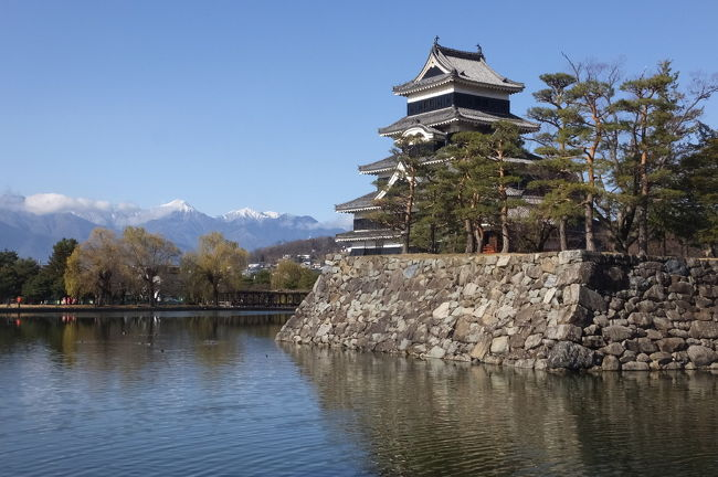 大人の休日倶楽部パスを利用して、出かけてきました。<br />3~4日目は、新宿から特急「あずさ」で松本へ向かい、松本城を見学して、塩尻氏の健康ランドに宿泊しました。<br />翌日は、松本から長野に特急「しなの」で長野に向かい善光寺に参拝して、長野(北陸)新幹線で帰京しました。