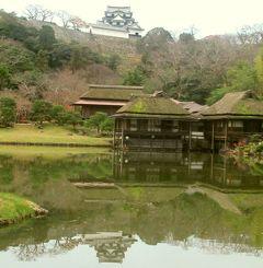 冬の近江・美濃(7)彦根城の大名庭園・玄宮園~池水の美しい回遊庭園では水面に映る彦根城も