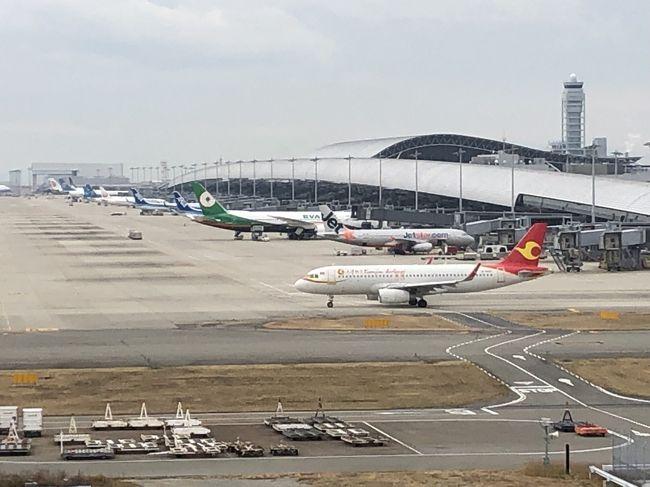 関西空港へ、出迎えついでに飛行機を堪能ジェットエンジンのサウンドと排気ガスを嗅ぎ、出迎えじゃなく、やっぱり飛行機のりたいな(泣)<br /><br />今日は、第2ターミナルへ出迎えでしたが、時間が早く展望デッキで飛行機や、空港車輌を見学です。<br /><br />