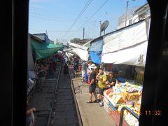 amazing THAILAND! (9)メークロン駅からメークロン線に乗車、最後尾の車掌室からVideo撮影・・・
