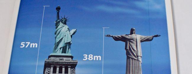 ブラジルでは、時々、大きな「自由の女神...