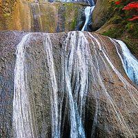 大子-5 袋田の滝 第1観瀑台・水しぶき間近の迫力 ☆吊り橋を渡り迂回路を戻り