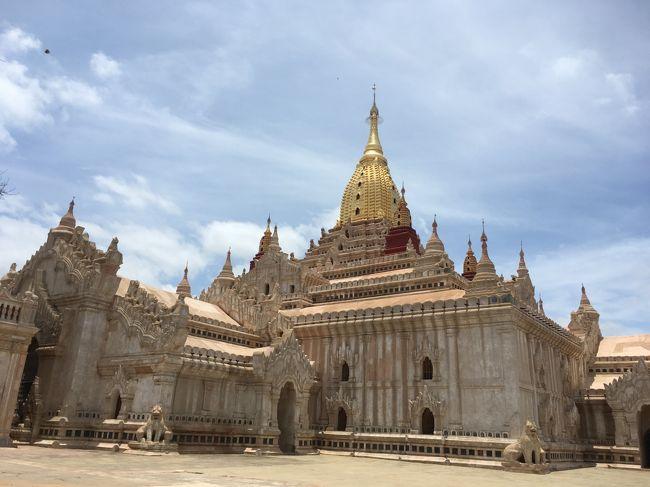 ★概要<br />2018年7月29日(日)<br /><br />旅のハイライト、バガン。<br />到着初日はオールドバガン中心をブラブラ。<br /><br />★全体概要<br />2010年にインドネシアのボロブドゥール遺跡へ行った際に「世界3大仏教遺跡」を知った。<br />カンボジアのアンコールワット、インドネシアのボロブドゥール、そしてミャンマーのバガン。<br />その頃から「いつか行きたい場所」としてリストアップされていた。<br />近年の民主化や経済自由化により急速に発展し、「アジア最後のフロンティア」と呼ばれることもあるというミャンマー。<br />平成最後になりそうな旅に相応しい国かもしれない。<br /><br />本文中の金額は旅行当時の両替レート。