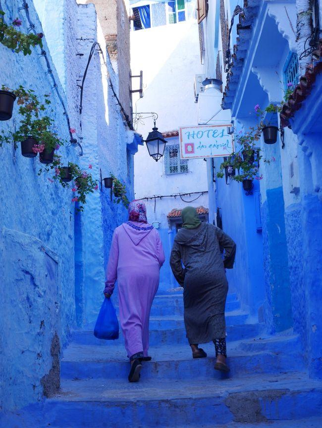 【南スペイン・北モロッコ】3/9作目 ゜*・ 彷徨いましょう青い村シャウエン。タンジェまでの酷暑で過酷な長距離バス移動編・* ゜