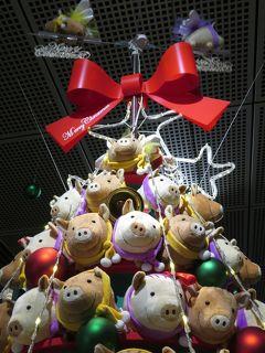 東京国際フォーラム恒例の干支クリスマスツリー(いのししっ子バージョン)