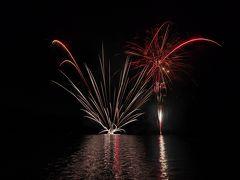 復興を願いながら@芦ノ湖トワイライト花火