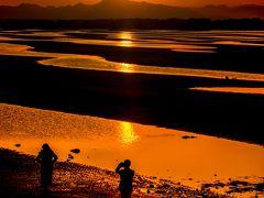 真玉海岸の夕陽 2018年末