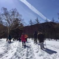 2017年 雪降る中で露天風呂とスノーシューで純白の雪山散歩