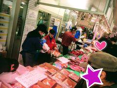 大晦日の松原商店街で正月の準備
