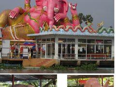 「ハッピーツアー」でピンクのガネーシャとアユタヤ。2つの現地ツアーをダブルで一日で回る。