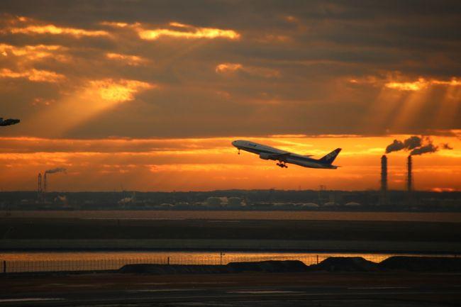 明けましておめでとうございます。<br /><br />元旦から新年初投稿になります。<br />今年で3年目となりました地元の友人との初日の出参拝は、いくつかの候補の中から羽田空港第2ターミナル展望デッキからすることにしました。<br />いつか羽田空港の展望デッキから飛行機を撮ってみたいと思っていたので、初日の出も撮れて飛行機も撮れちゃうなんて一石二鳥ですねー!