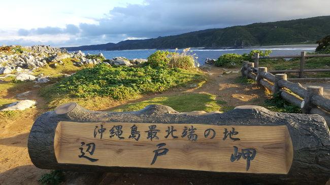11月26日に沖縄入り 美ら海水族館と周辺ドライブ  オクマ泊<br />11月27日 オクマビーチでシュノーケル+アクティビティ    辺戸岬   オクマ泊<br />11月28日  浜比嘉島など巡り レンタカー返却付近観光<br /><br />今回の旅行で、オリオンビール工場を除いて、沖縄本土、本土から橋で繋がった離島のほぼ全域を網羅したことになりました。<br />観光地や歴史、遺跡跡地などもそのほとんどを制覇できました。<br /><br />高速が出来て、橋が出来て、レンタカーでの移動距離が伸びたことで、最北の辺戸岬まで行けたと思います。<br /><br />初めて二十歳の頃、家族全員で来た沖縄旅行は、観光ハイヤーのおじいさんから戦争中の辛い話や、戦後の米兵の惨い行為、ひめゆりの塔での部隊の話など、沖縄の暗い部分の多い観光でした。生き証人の島民の方から生の話が聞けたことは財産だと思っています。それから約35年間に計7回ほど?で本土制覇となりました記念旅行。<br />次回はまだ未開のマイナー離島を制覇すべく楽しんで頑張ります。<br /><br />