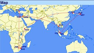 2018年末年始はアフリカ南部2ヶ国の旅(1)乗り継ぎシンガポール&全行程概要編