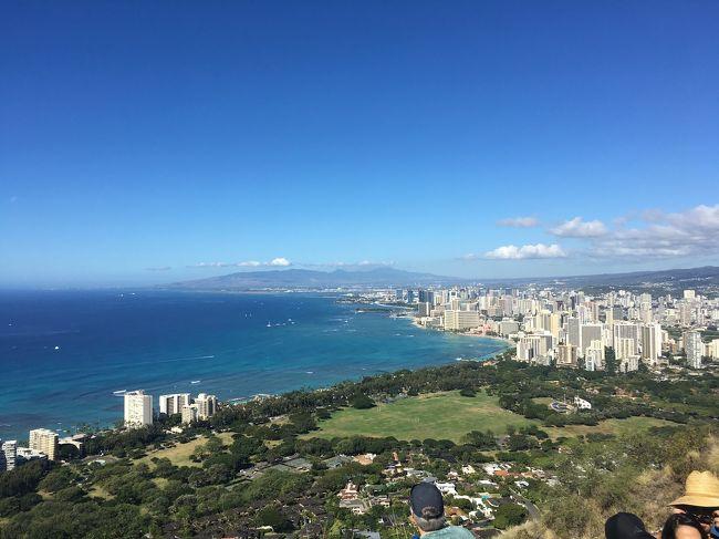 2018年12月26日~30日(3泊5日)<br />ハワイ オアフ島に行ってきました!<br />個人手配旅行です。<br />9月頃に旅行を決め、航空券はJAL!<br />両親姉が初ハワイで直行便でLCC以外という条件で探しました。<br />やっぱり年末は高いですね。<br />ハワイアン航空、デルタ航空はJALよりも高い値段になっていました。<br />ホテルは5人だと2部屋は3人と2人になり、検索しづらかったのもあり、5人1部屋を探しました。<br />公式サイトでエンバシースイーツワイキキを3泊予約しました。<br /><br />JALの航空券購入の人限定で申し込めるjaloaloカードも申し込み、jaloalo特典でJALパックのホクレアツアーや、チャーリーズタクシーの空港送迎(定額)を申し込みました。