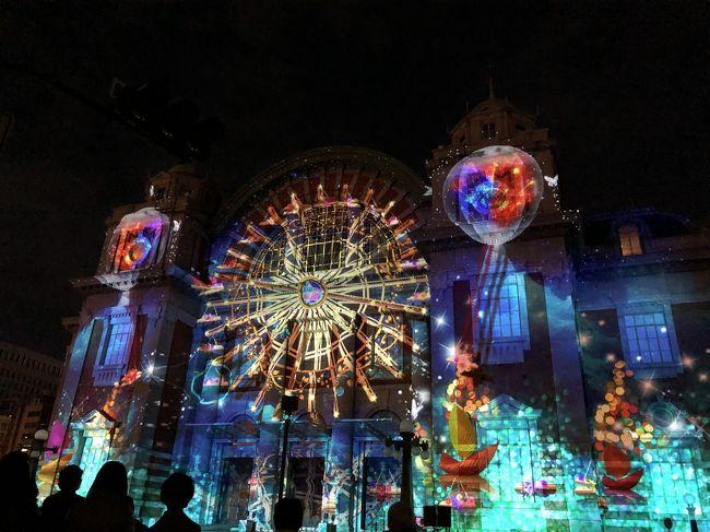 大阪では光の饗宴として、府内各地で11月から1月にかけてイルミネーションが行われます。<br /><br />光のルネサンスは、そのうち12月14日から25日の間、中之島で行われたイルミネーションです。