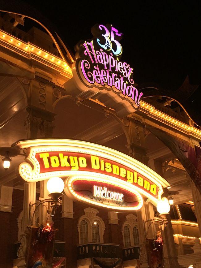 はじめて正月にディズニーランドへ行きました!<br />1月3日の夜に ディズニーランドに入場しましたが、かなりの人で驚き!<br /> 4時間しかいられませんでしたが、乗り物も沢山乗れて、家族で良い時間となりました!