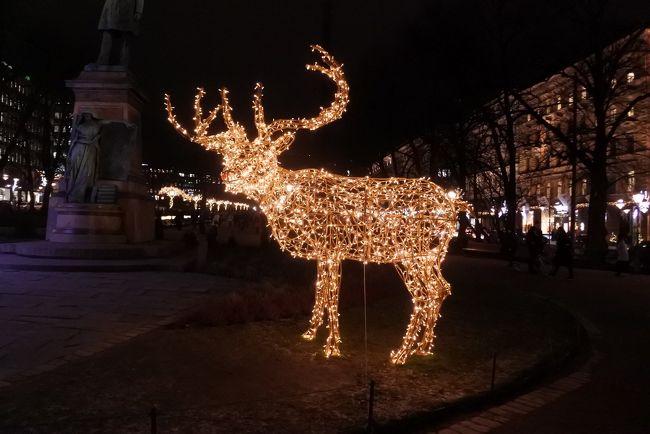 12月のヘルシンキと夜の街歩き