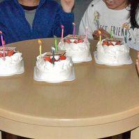 三世代で巡るスキー旅行 二日目4人の孫のバースディパーティ