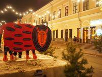 ウクライナのクリスマスマーケット。オペラ座舞台裏ツアー。スーパーでお買い物。day1-2