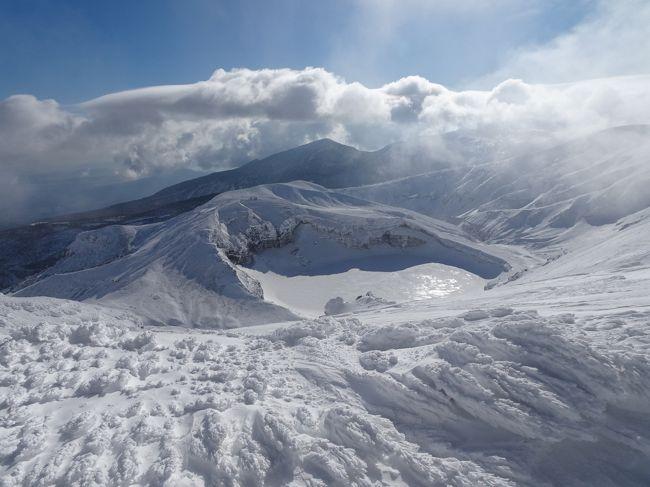 樹氷の蔵王山(熊野岳)登山
