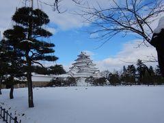 年末年始の鶴ヶ城雪化粧