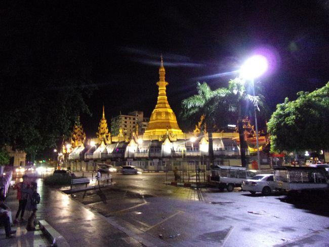 飛行機を乗り継いで仏教の聖地へ巡るミャンマーの旅 その3 夜のヤンゴン市内ぶらり街歩き!マッサージで癒されてからオシャレなお店で郷土料理 & 飛べるのぉ(◎_◎;)?ミャンマー国内線の飛行機に乗って仏教の聖地バガンへ