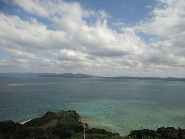 30代と40代の夫婦+両親の大人4人で行く沖縄旅行。<br />昨年は雨で天候が悪く、今回リベンジ。<br />幸いお天気にも恵まれ、美味しいものを沢山食べ、最高の旅となりました。<br /><br />1日目 二ライ橋カナイ橋<br />    知念岬公園<br />    沖縄ワールド(玉泉洞)<br />    膳(読谷村)で夕食<br />    ホテル日航アリビラ 泊<br /><br />2日目 東南植物楽園<br />    真打田仲そば<br />    古宇利大橋、オーシャンタワー<br />    許田インター<br />    シェラトンサンマリーナで夕食<br />    カフーリゾートフチャク アネックス棟 泊<br /><br />3日目 朝便にて帰宅