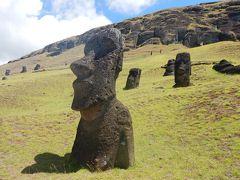 チリ・イースター島5泊9日④イースター島(ラノ・ララク、アナケナビーチ、年越し花火)