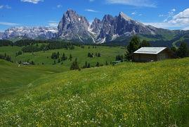 【ロシアワールドカップとチロル&ドロミテ】6月中旬の花が咲き乱れる絶景のシウジ高原をハイキング