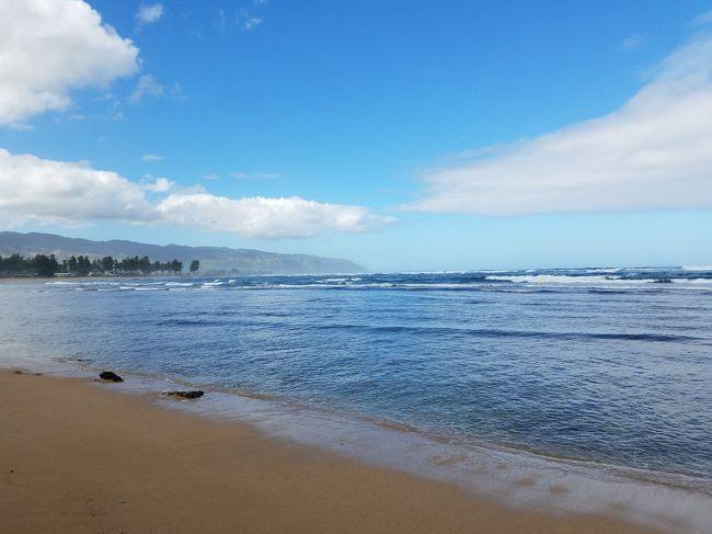「この島は、いつも新しい驚きをくれる。FEEL THE NEW SKY ANAハワイ」と綾瀬はるかが語るANAのCMに触発されマイルを使いJALでハワイへ貧乏旅行!<br />いつか登ってみたかったあの絶景ポイントやANAのCMで使われた場所にも行ってみました!<br />本当はANAで行くべきなんでしょうが・・・。<br /><br />今日はノースショアへツアーで行ってきます。新生マッキーズ!?でガーリックシュリンプは食べられるのか???