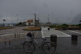 雨降って八丈島 3-1 雨の中、レンタサイクルで買い物へ