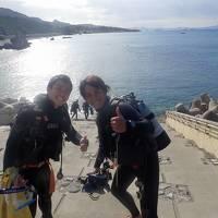 沖縄・久米島2019冬(25)北上~崎本部ゴリラチョップでダイビング