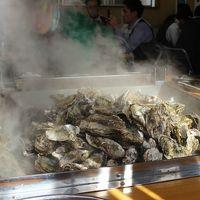 松島で旬のかきをおなかいっぱい