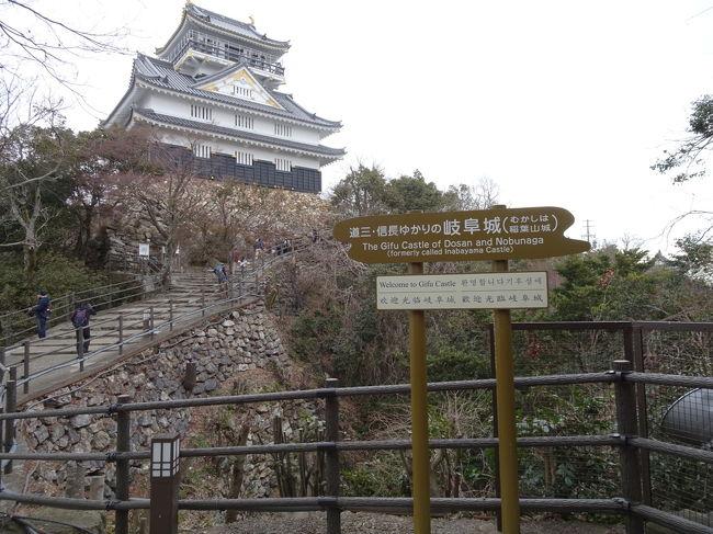 はじめて岐阜へ旅行しました。<br />新幹線で名古屋でまで行き、乗り換えて快速で岐阜まで。<br />思ったより早くに岐阜に着きました。<br /><br />良く知らない土地でしたが、<br />長良川も綺麗だったし、岐阜城(稲葉山)の<br />天守閣からの景色はかなり見応えがありました。<br />濃尾平野の雄大さや、アルプス連峰。<br />見た事の無い風景でした。<br />歴代城主の展示など、<br />歴史の勉強にもなりましたね。<br /><br />岐阜駅前の織田信長の金ピカ像には驚きましたが、とても楽しかったです。<br />柳ヶ瀬商店街は、今はさびれているようです。