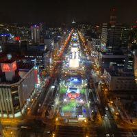 札幌へ日帰り旅行!のはすが1泊2日に変更!2月の札幌は雪祭り&イルミネーションでキラッキラ〜☆☆