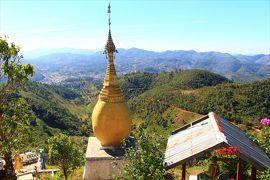 香港ミャンマー陸路旅B10■カロー五日市と山頂のパゴダ