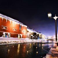 大寒波の夜に*.☆小樽雪あかりの路.☆*. ろうそくの灯りは、冷え切った町を温めるように優しく揺らめいていました〜☆*