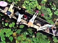 女同士で楽しむホアヒン&バンコク 欲張り9日間の旅♪♪ (5日目午前編:初ドローン撮影@レッドロータス水上市場〜クンオププーカオファイ)