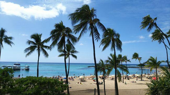 ANAビジネスクラスに乗って、オアフ島に4泊、ハワイ島に3泊、7泊9日の旅です。