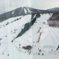 中年夫婦のスキー旅行