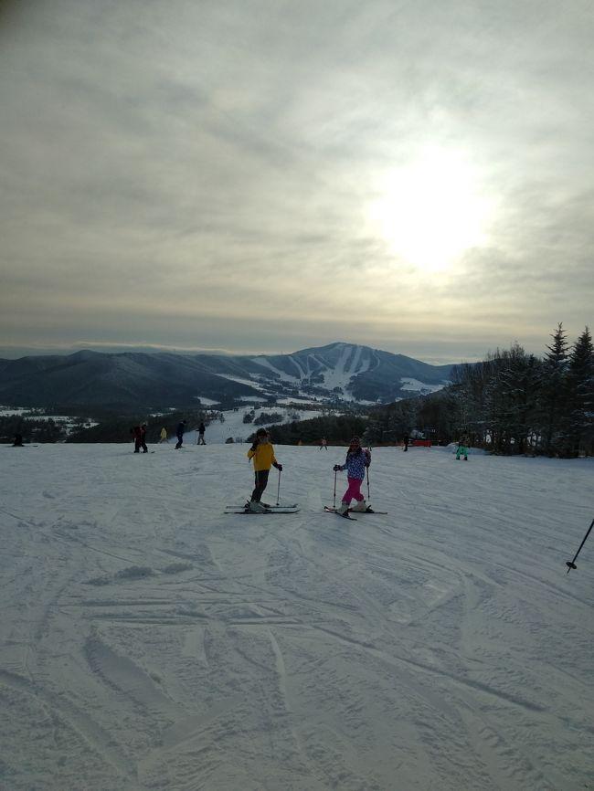今シーズン2度目、2019年初のスキー★<br />場所を迷って・・・雪が豊富なところ(この時期なら人口雪じゃないところ)で、車でいけるやや近めの場所、で探してみました。<br />昨年末に新潟(五日町)でスキーしたので、ちょっと違う方向で長野方面で。草津もよさそうだったけど、やはり知名度ある温泉地なので、宿泊が高い~~スキーの時の宿泊は、リフト券やレンタルもあるのでコスパ重視!で、結果菅平になりました。<br />1日目は、軽井沢に立ち寄り、ハルニレテラスのおしゃれさを楽しみ、ホンモノの池に作られたスケートリンクで今シーズン初スケートも満喫できてよかった!<br />菅平のホテルはまあ、合宿所?!な感じだったけど、レンタルは1日2000円とお安く(ちょっとトラブルありましたが・・・)、とにかく雪がフカフカでいい感じだったのがよかった!スキー場は1か所だけど、エリアが分かれていてそれぞれ楽しめそうだし。もう少しいい感じのホテルがあったらまた行きたいな~~<br />帰り立ち寄った上田市のふるさとさなだ館の施設もすごく良くて、あったまって帰宅しました!<br />