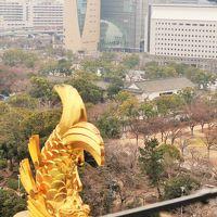 大阪30 大阪城天守閣b 展望台/8階地上50mから ☆大阪城公園-市街地を一望でき