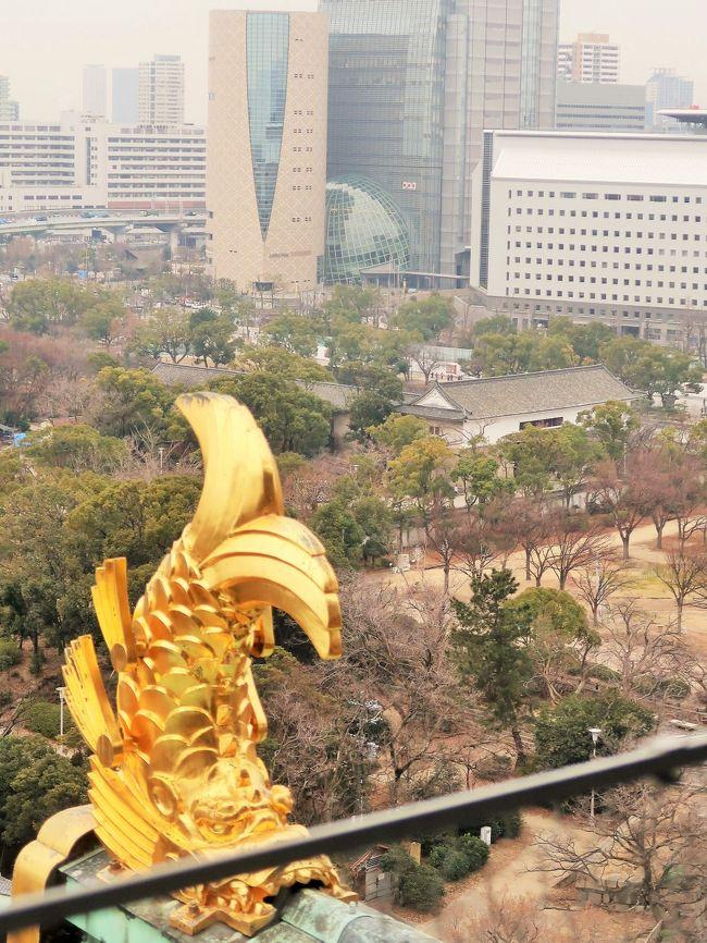 大阪城は、安土桃山時代に摂津国-大坂に築かれ、江戸時代に修築された日本の城。 現在は江戸時代に建てられた櫓や門、蔵など13棟が現存し、城跡は710,000平方メートルの範囲が「大坂城跡」として国の特別史跡に指定されている。<br />天守は1931年(昭和6年)に鉄骨鉄筋コンクリート構造によって復興された物であるが、現在登録有形文化財となっており、博物館「大阪城天守閣」として営業している。<br />(フリー百科事典『ウィキペディア(Wikipedia)』より引用)<br /><br />大阪城天守閣 については・・ https://www.osakacastle.net/  https://kojodan.jp/castle/15/<br />大阪城からの展望については・・ https://matcha-jp.com/jp/193