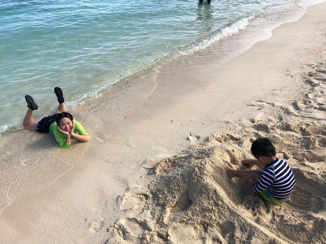 【子連れ海外】シャングリラホテルに泊まるセブ島&ボホール島5日間<br />2019年2月に、4歳の息子を連れてセブ島に行ってきました!<br />その時のようすを、下記の3つに分けてレポートします。<br /><br />その1 (このページ)<br />1日目~2日目 <br />●フライト・オブ・ドリームズ<br />●フィリピン航空 機内食<br />●セブ・マクタン空港到着<br />●シャングリラホテルのビーチ&プール<br /><br />その2<br />3日目 ボホール島<br />●ターシャ見学<br />●ロボック川クルーズ<br />●バギー乗車体験<br />●チョコレートヒルズアドベンチャーパーク<br />https://4travel.jp/travelogue/11460335<br /><br />その3 (このページ)<br />4日目~5日目<br />●SMモールでショッピング<br />●スパ体験<br />●セブ・マクタン空港の新ターミナル<br />https://4travel.jp/travelogue/11460515<br /><br />子どもを連れての海外旅行は、グアムに続き2回目となります。<br />今回の旅行先をセブ島に選んだ理由は主に3つ。<br /><br />1.フライト時間…4時間~5時間で4歳児にも無理がない。<br />2.シーズン…乾期の東南アジアは過ごしやすい。<br />3.自然…ビーチとジャングルが楽しめる。<br /><br />ホテルは、ちょっと値が張りましたが思い切ってシャングリラマクタンに。噂通り子連れに優しいホテルで、安心して滞在できました。<br />幼児を連れての旅行ななにかと神経を使うこともありますが、無理のないプランを立てたことでトラブルもなく無事に旅を終えることができました。<br />あるていど体力もつき、自分でしっかりと歩くことができる4歳という年齢。アクティブなプランを組んでも楽しめるようになってきたと感じました。<br />また、今回の旅行で印象的だったのは、私たち旅行客の過ごしかたと地元民の暮らしの落差。<br />豪華なホテルや新ターミナルとは対照的に、地震の影響で倒壊し、いまだ修復のすすんでいない建物。バスの車窓から見ただけですが、そういった現実も垣間みられました。<br />次回いくならば、もっと地域との距離を縮め、フィリピンという国を深く知れるような旅プランを組んでみたいと思いました。<br />この旅行記が、今後セブ島へ旅行を考えているかたの参考になれば幸いです。